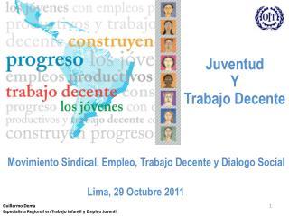 Guillermo Dema Especialista Regional en Trabajo Infantil y Empleo Juvenil