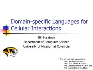 Domain-specific Languages for Cellular Interactions