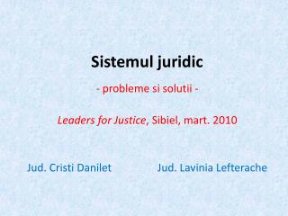 Sistemul juridic