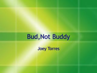 Bud,Not Buddy
