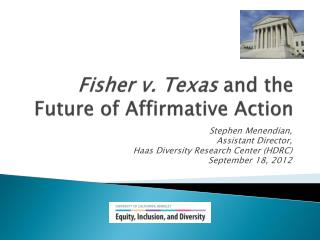 Fisher v. Texas and the Future of Affirmative Action