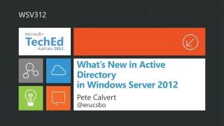 What s New in Active Directory  in Windows Server 2012