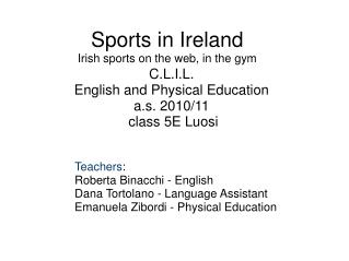 Sports in Ireland Irish sports on the web, in the gym