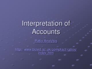 Interpretation of Accounts