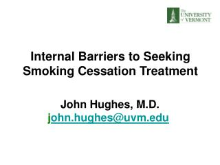 Internal Barriers to Seeking Smoking Cessation Treatment