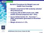 Bariatric Procedures for Weight Loss and Health Care Coverage