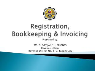 Registration, Bookkeeping  Invoicing
