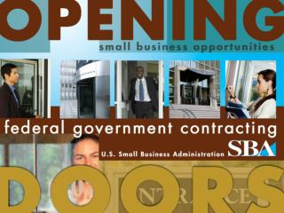 U.S. Small Business Administration Government Contracting Business Development Programs