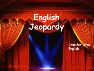 English  Jeopardy