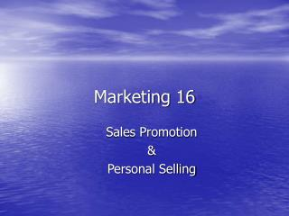 Marketing 16