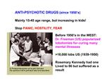 ANTI-PSYCHOTIC DRUGS since 1950 s  Mainly 15-45 age range, but increasing in kids  Stop PANIC, HOSTILITY, FEAR