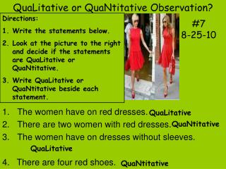 QuaLitative or QuaNtitative Observation