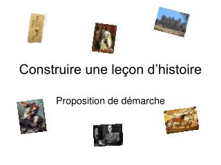 Construire une le on d histoire