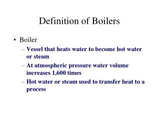 Definition of Boilers