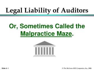 Legal Liability of Auditors