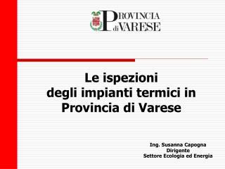 Le ispezioni degli impianti termici in Provincia di Varese