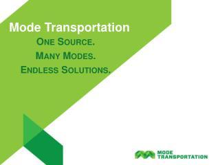 Mode Transportation