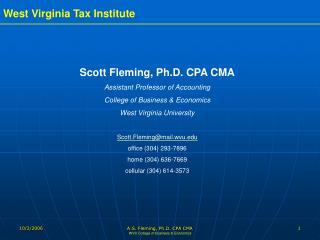 A.S. Fleming, Ph.D. CPA CMA