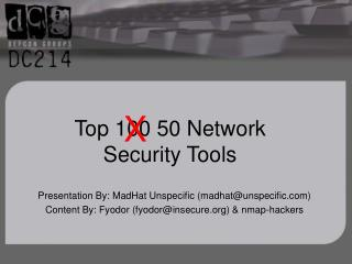 Top 100 50 Network  Security Tools