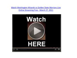 Watch Washington Wizards vs Golden State Warriors Live Onlin