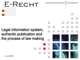 Legal information system