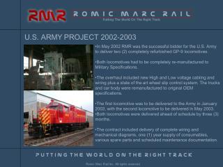 U.S. ARMY PROJECT 2002-2003