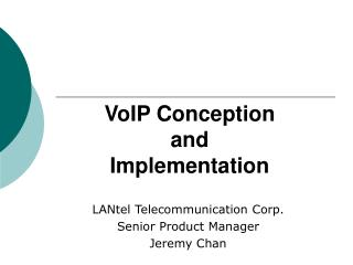 VoIP Conception and Implementation