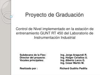 Proyecto de Graduaci n