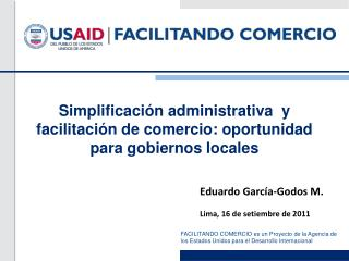 Simplificaci n administrativa  y facilitaci n de comercio: oportunidad para gobiernos locales