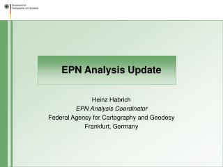 EPN Analysis Update