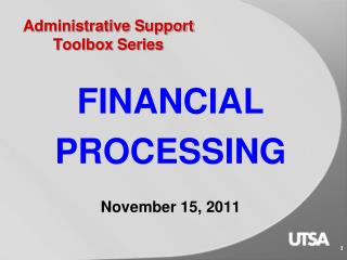 Administrative Support Toolbox Series