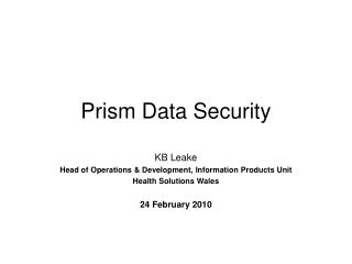 Prism Data Security