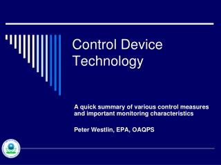 Control Device Technology