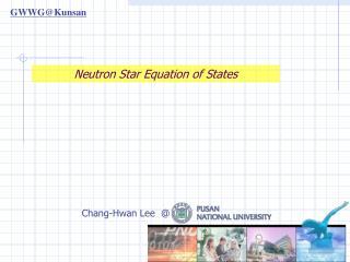 Neutron Star Equation of States