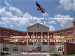 Command  General Staff College Command Brief