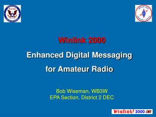 Winlink 2000 Enhanced Digital Messaging  for Amateur Radio