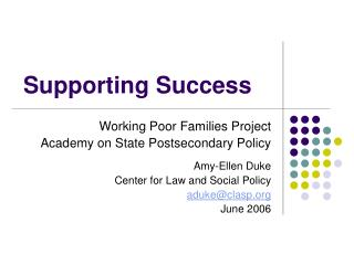 Supporting Success