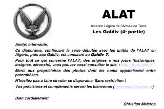 ALAT Aviation L g re de l Arm e de Terre Les Galdiv 4e partie