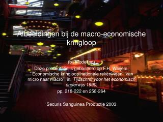 Afbeeldingen bij de macro-economische kringloop