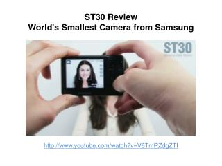 ST30 Review: Worlds smallest camera from samsung