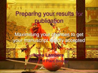 Preparing your results for publication