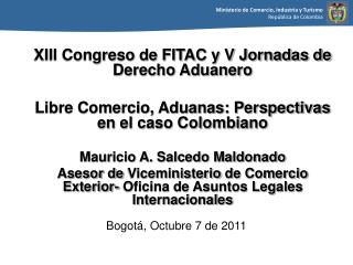 Bogot , Octubre 7 de 2011