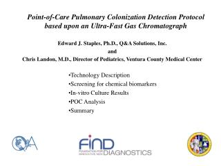 Point-of-Care Pulmonary Colonization Detection Protocol based upon an Ultra-Fast Gas Chromatograph