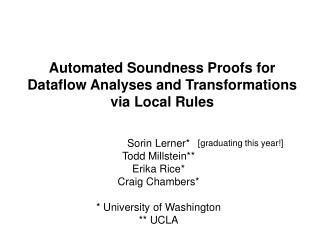 Automated Soundness Proofs for Dataflow Analyses and Transformations via Local Rules