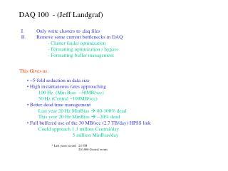 DAQ 100  - Jeff Landgraf