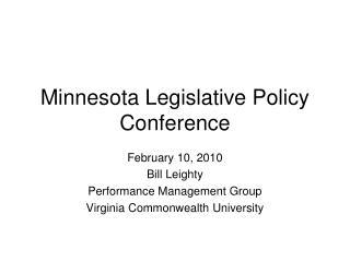 Minnesota Legislative Policy Conference