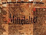 Die Anf nge der deutschen Literatur