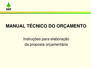 MANUAL T CNICO DO OR AMENTO