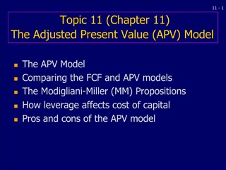 Topic 11 Chapter 11  The Adjusted Present Value APV Model