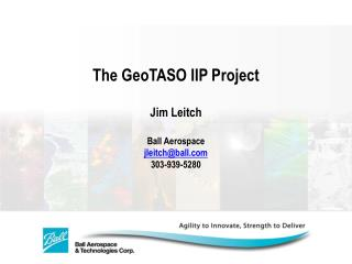 The GeoTASO IIP Project